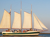 The Schooner Pride Sailing tour grants guests a smooth ride along the Charleston Harbor.