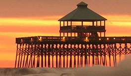 Folly Beach Pier Beach Movie Nights