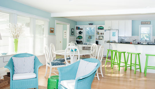 Interior of Island Retreat Rental Home on Bald Head Island © 2014 Audra L. Gibson