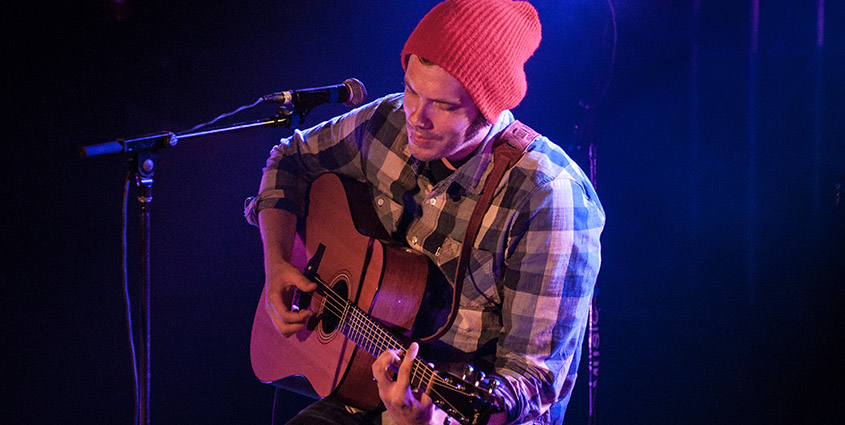 Josh Garrels bringing the tunes for the folks in Chucktown. © 2014 Audra L. Gibson. All Rights Reserved.