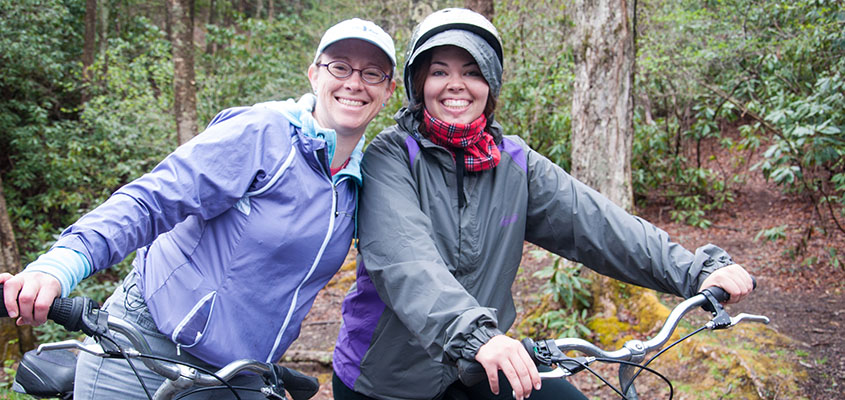 Biking the Virginia Creeper Trail. © 2016 Audra L. Gibson. All Rights Reserved.