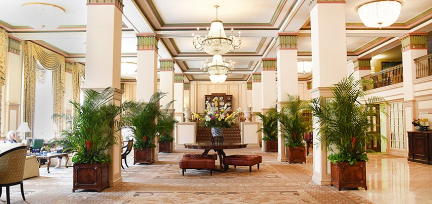 The Francis Marion Hotel Lobby, one of our Charleston favorites.