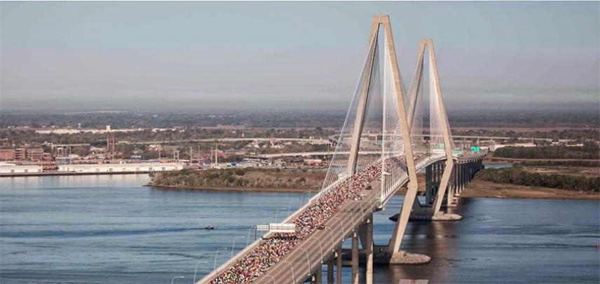 View of the Cooper River Bridge Run